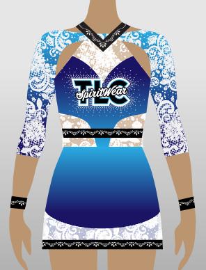 Blue Sublimation Cheerleading Uniform
