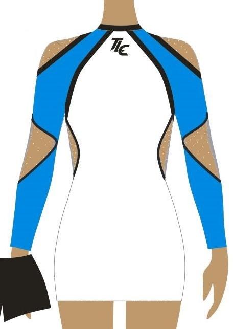 Lycra Pom Dance Dress
