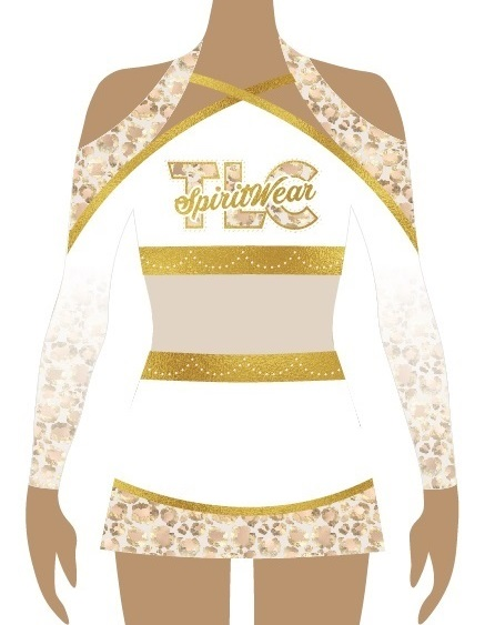 Gold Cheerleading Uniform