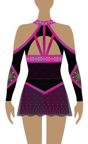 Pink & Purple Sublimation Cheerleading Uniform
