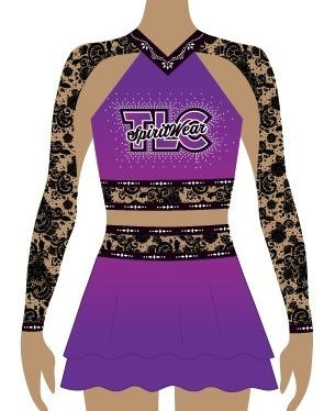 Purple Cheerleading Uniform