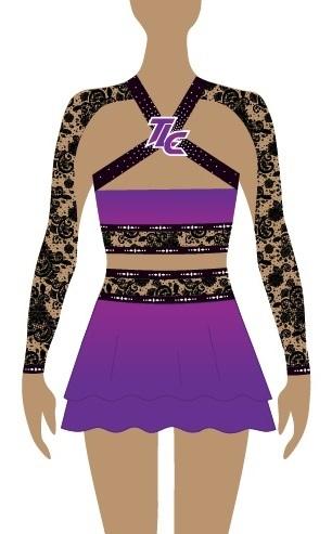 Purple Sublimation Cheerleading Uniform