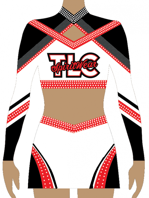 Red Lycra Cheerleading Uniform