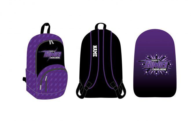 Custom Backpacks Purple Thunder Cheerleading