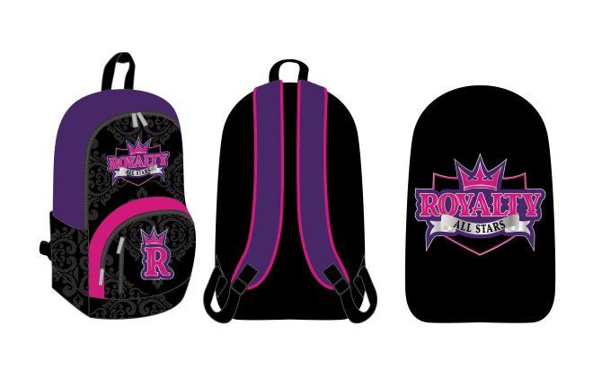 Custom Backpacks Royalty Cheerleading