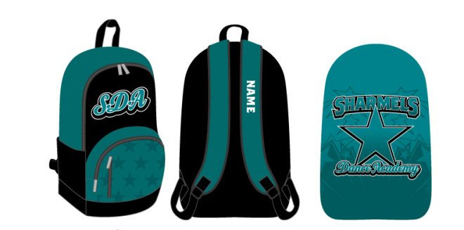 Custom Backpacks Sharmels Dance Acadamy