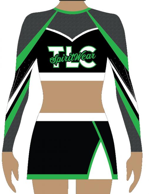 Green Lycra Cheerleading Uniform
