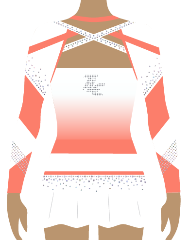 Coral Sublimation Cheerleading Uniform