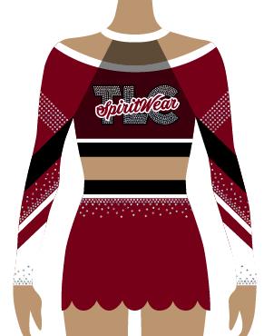 Maroon Cheerleading Uniform