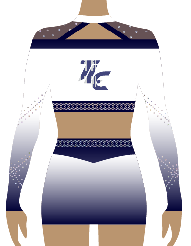 Navy Sublimation Cheerleading Uniform
