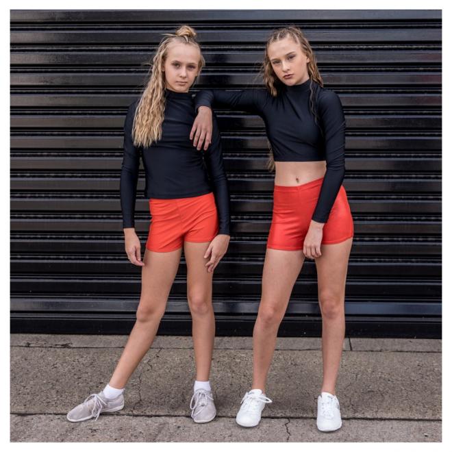 Orange Cheerleading Briefs