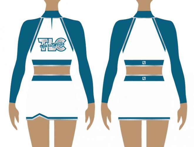 Teal Cheerleading Uniform