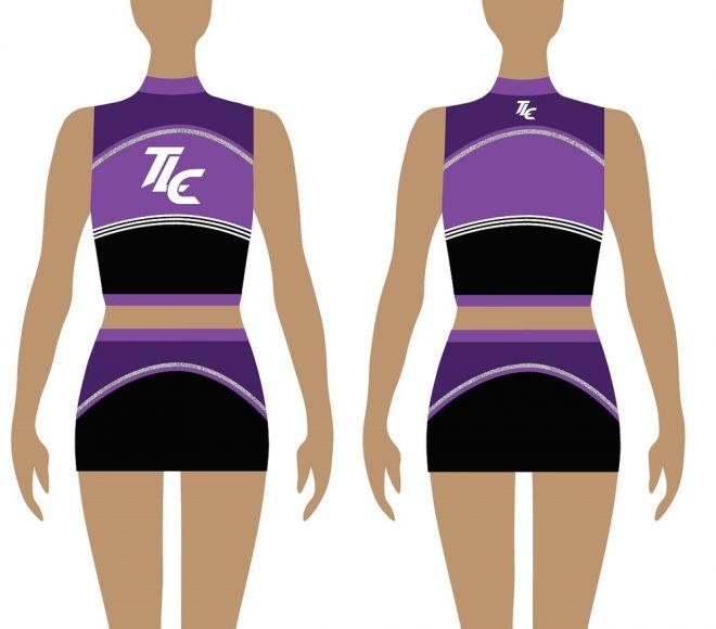 Polyester Cheerleading Uniform