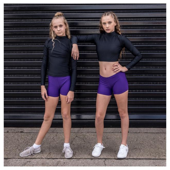 Purple Cheerleading & Dance Briefs