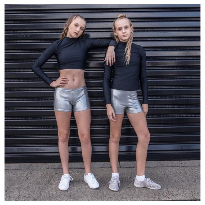 SIlver Metallic Cheerleading & Dance Briefs