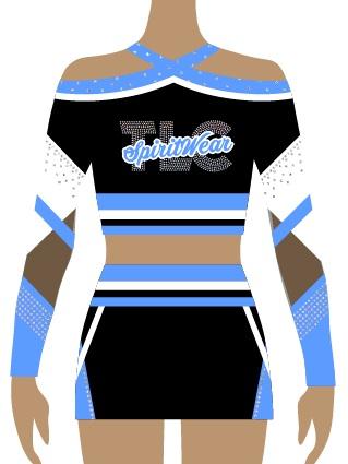 Sky Blue Cheerleading Uniform
