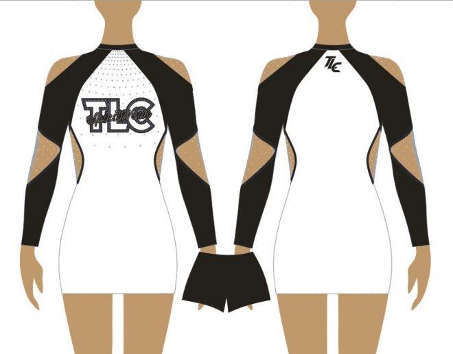 Black Cheerleading & Dance Uniform Costume