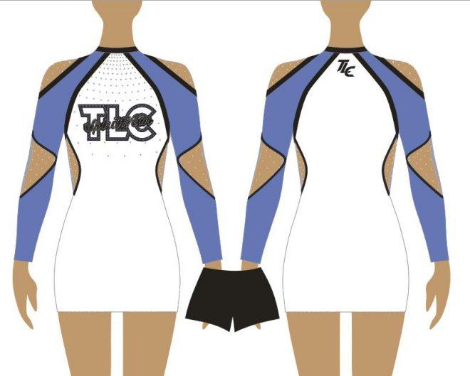 Columbia Blue Cheerleading & Dance Uniform Costume