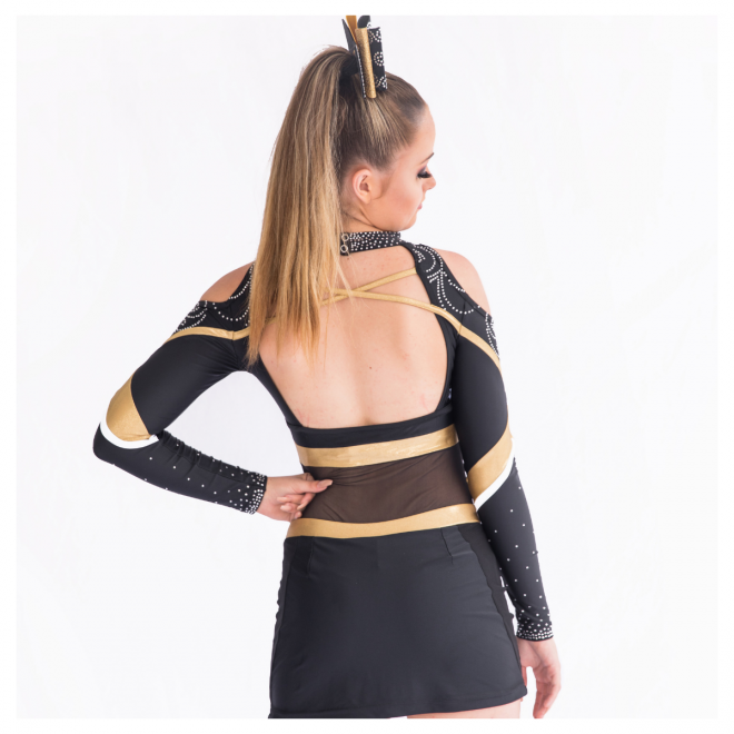 Gold Metallic Cheerleading Uniform