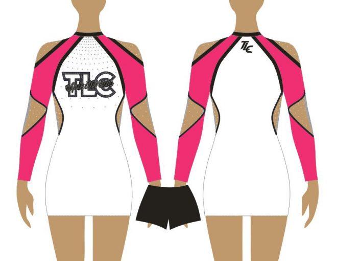 Pink Cheerleading & Dance Uniform Costume