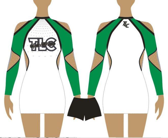 Emerald Green Cheerleading & Dance Uniform Costume