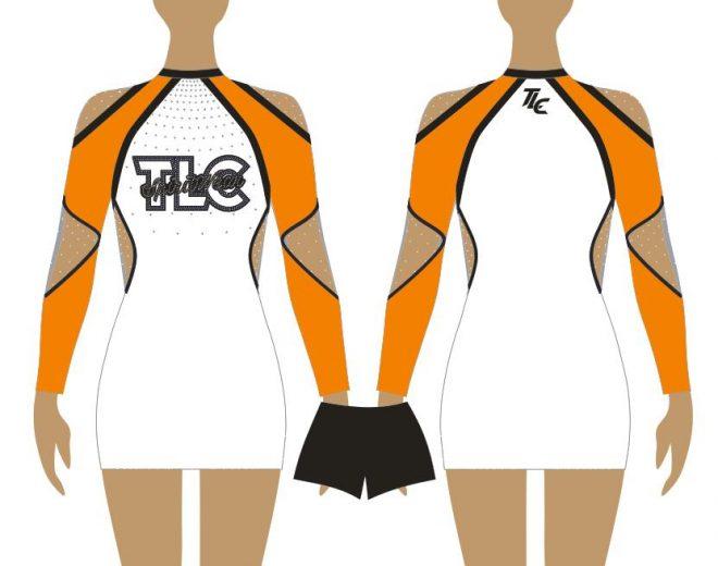 Orange Cheerleading & Dance Uniform Costume