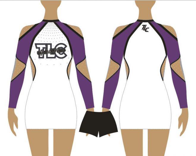 Purple Cheerleading & Dance Uniform Costume