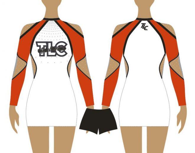 Red Cheerleading & Dance Uniform Costume