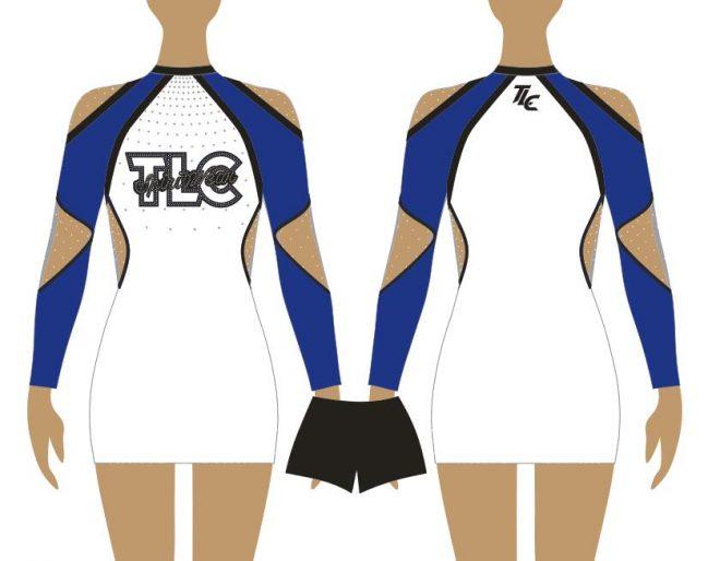 Navy Cheerleading & Dance Uniform Costume