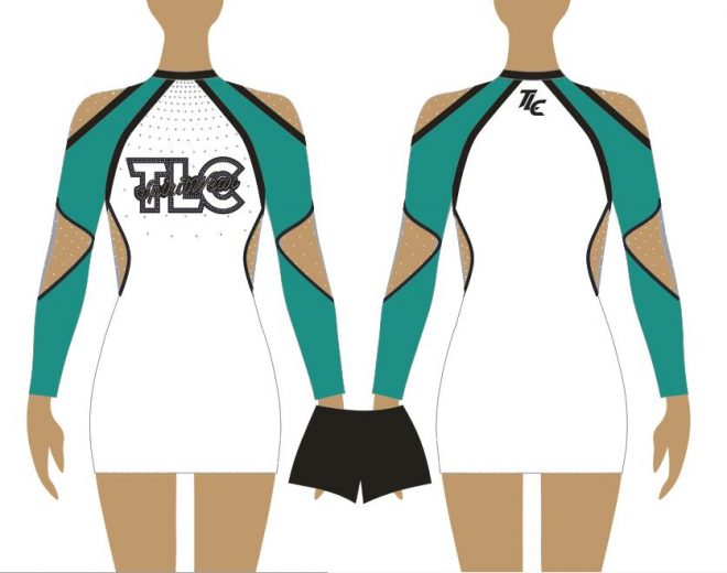Teal Cheerleading & Dance Uniform Costume
