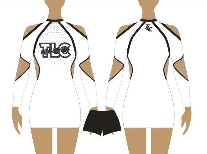 White Cheerleading & Dance Uniform Costume