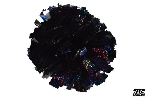 Black Hologram Cheerleading Pom Pom