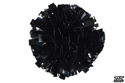 Black Metallic Cheerleading Pom Pom