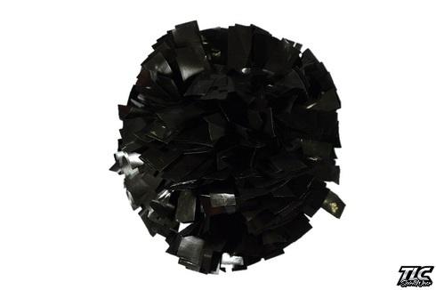 Black Wetlook Cheerleading Pom Pom