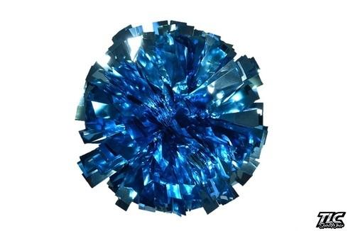 Bright Blue Metallic Cheerleading Pom Pom