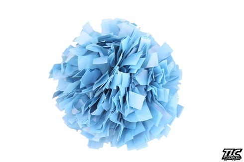 Columbia Blue Plastic Cheerleading Pom Pom