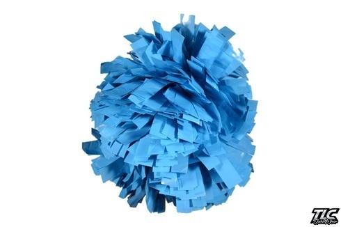 Columbia Blue Wetlook Cheerleading Pom Pom