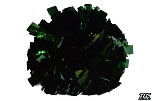 Dark Green Metallic Pom Pom