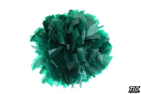 Dark Green Plastic Cheerleading Pom Pom