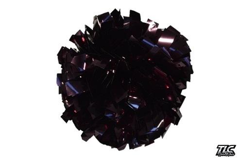 Dark Maroon Metallic Cheerleading Pom Pom