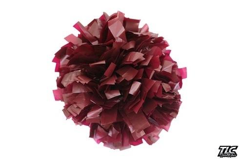 Dark Maroon Plastic Cheerleading Pom Pom