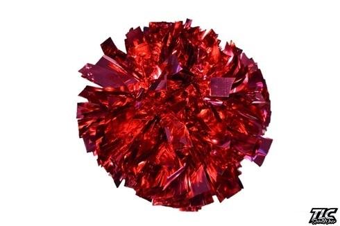 Dark Pink Metallic Cheerleading Pom Pom