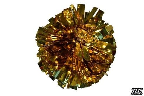 Gold Metallic Cheerleading Pom Pom