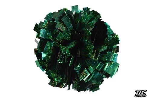 Green Hologram Cheerleading Pom Pom