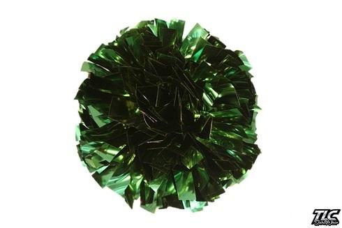 Kelly Green Metallic Cheerleading Pom Pom