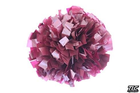 Light Maroon Plastic Cheerleading Pom Pom
