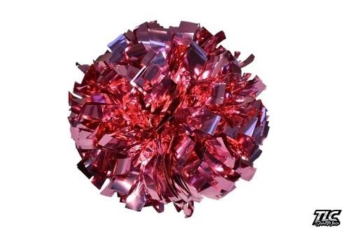 Light Pink Metallic Cheerleading Pom Pom