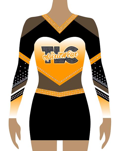 Orange Cheerleading Uniform