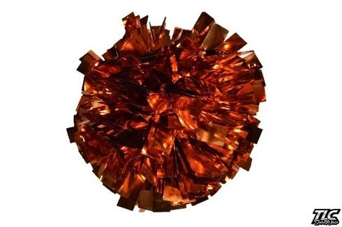 Orange Metallic Cheerleading Pom Pom