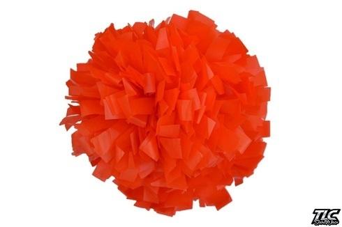 Orange Plastic Cheerleading Pom Pom